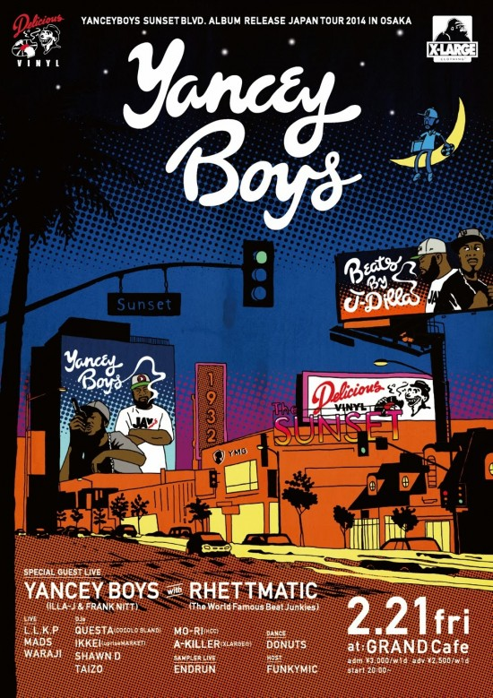 "2/21 [fri] YANCEY BOYS ""SUNSET BLVD."" JAPAN TOUR 2014"